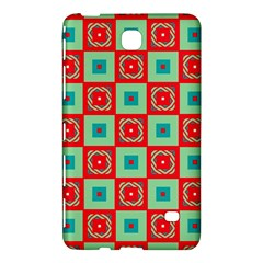 Blue Red Squares Pattern                                			samsung Galaxy Tab 4 (8 ) Hardshell Case by LalyLauraFLM