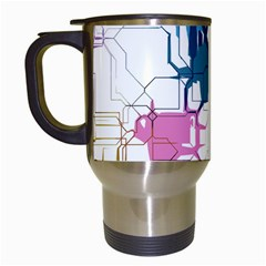 Cracked Wall                                 Travel Mug (white) by LalyLauraFLM