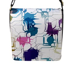 Cracked Wall                                 			flap Closure Messenger Bag (l) by LalyLauraFLM