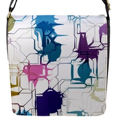 Cracked Wall                                 			flap Closure Messenger Bag (s) by LalyLauraFLM