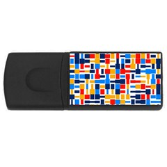 Colorful Shapes                                  			usb Flash Drive Rectangular (4 Gb) by LalyLauraFLM