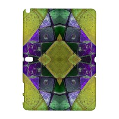 Purple Yellow Stone Abstract Samsung Galaxy Note 10 1 (p600) Hardshell Case by BrightVibesDesign
