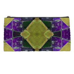 Purple Yellow Stone Abstract Pencil Cases by BrightVibesDesign