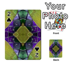 Purple Yellow Stone Abstract Playing Cards 54 Designs