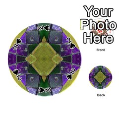 Purple Yellow Stone Abstract Playing Cards 54 (round)