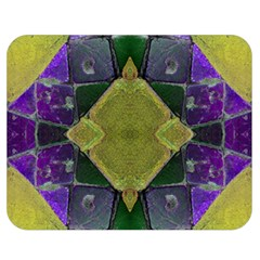 Purple Yellow Stone Abstract Double Sided Flano Blanket (medium)  by BrightVibesDesign