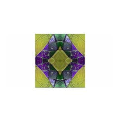 Purple Yellow Stone Abstract Satin Wrap by BrightVibesDesign