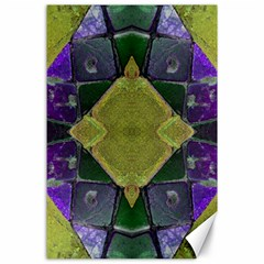 Purple Yellow Stone Abstract Canvas 24  X 36  by BrightVibesDesign