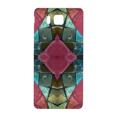 Pink Turquoise Stone Abstract Samsung Galaxy Alpha Hardshell Back Case by BrightVibesDesign