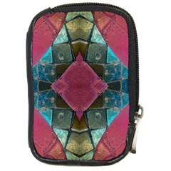 Pink Turquoise Stone Abstract Compact Camera Cases by BrightVibesDesign
