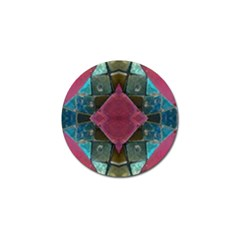 Pink Turquoise Stone Abstract Golf Ball Marker (10 Pack) by BrightVibesDesign
