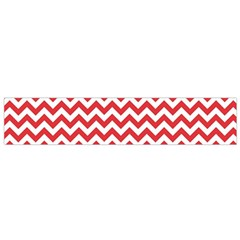 Poppy Red & White Zigzag Pattern Flano Scarf (small) by Zandiepants