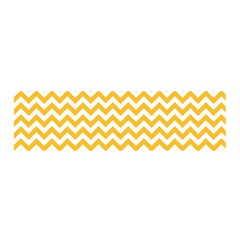 Sunny Yellow & White Zigzag Pattern Satin Scarf (oblong)