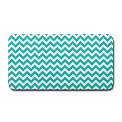 Turquoise & White Zigzag Pattern Medium Bar Mat