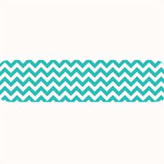 Turquoise & White Zigzag Pattern Large Bar Mat