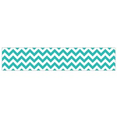Turquoise & White Zigzag Pattern Flano Scarf (small)