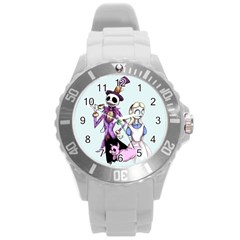 Nightmare In Wonderland  Round Plastic Sport Watch (l) by lvbart
