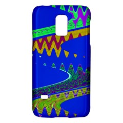 Colorful Wave Blue Abstract Galaxy S5 Mini by BrightVibesDesign