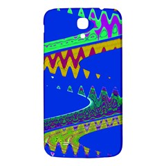 Colorful Wave Blue Abstract Samsung Galaxy Mega I9200 Hardshell Back Case by BrightVibesDesign