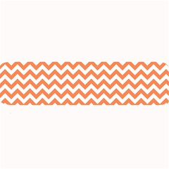 Tangerine Orange & White Zigzag Pattern Large Bar Mat by Zandiepants