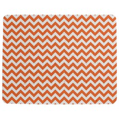 Tangerine Orange & White Zigzag Pattern Jigsaw Puzzle Photo Stand (rectangular) by Zandiepants
