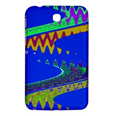 Colorful Wave Blue Abstract Samsung Galaxy Tab 3 (7 ) P3200 Hardshell Case  by BrightVibesDesign