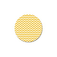 Sunny Yellow & White Zigzag Pattern Golf Ball Marker (4 Pack) by Zandiepants