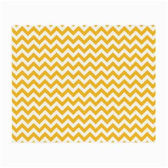 Sunny Yellow & White Zigzag Pattern Small Glasses Cloth