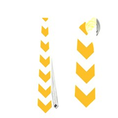 Sunny Yellow & White Zigzag Pattern Necktie (one Side)