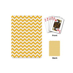 Sunny Yellow & White Zigzag Pattern Playing Cards (mini)