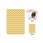 Sunny Yellow & White Zigzag Pattern Playing Cards (Mini) Back
