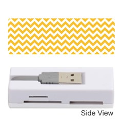 Sunny Yellow & White Zigzag Pattern Memory Card Reader (stick)