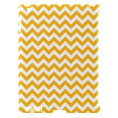 Sunny Yellow & White Zigzag Pattern Apple Ipad 3/4 Hardshell Case (compatible With Smart Cover)