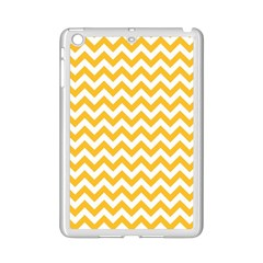 Sunny Yellow & White Zigzag Pattern Apple Ipad Mini 2 Case (white)