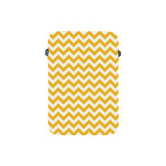 Sunny Yellow & White Zigzag Pattern Apple Ipad Mini Protective Soft Case