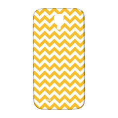 Sunny Yellow & White Zigzag Pattern Samsung Galaxy S4 I9500/i9505  Hardshell Back Case