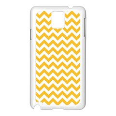 Sunny Yellow & White Zigzag Pattern Samsung Galaxy Note 3 N9005 Case (white)
