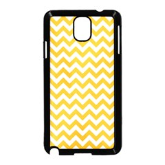Sunny Yellow & White Zigzag Pattern Samsung Galaxy Note 3 Neo Hardshell Case (black)