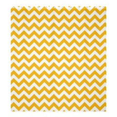 Sunny Yellow & White Zigzag Pattern Shower Curtain 66  X 72  (large)