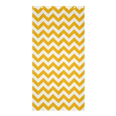 Sunny Yellow & White Zigzag Pattern Shower Curtain 36  X 72  (stall)