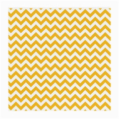 Sunny Yellow & White Zigzag Pattern Medium Glasses Cloth (2 Sides)