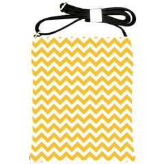 Sunny Yellow & White Zigzag Pattern Shoulder Sling Bag