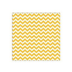 Sunny Yellow & White Zigzag Pattern Satin Bandana Scarf by Zandiepants