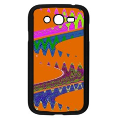 Colorful Wave Orange Abstract Samsung Galaxy Grand Duos I9082 Case (black) by BrightVibesDesign