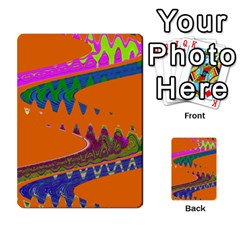 Colorful Wave Orange Abstract Multi-purpose Cards (rectangle)
