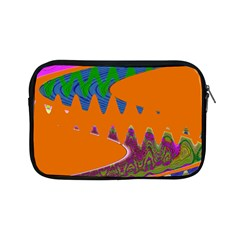 Colorful Wave Orange Abstract Apple Ipad Mini Zipper Cases by BrightVibesDesign