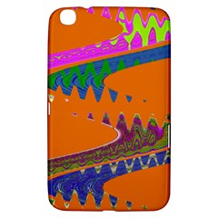 Colorful Wave Orange Abstract Samsung Galaxy Tab 3 (8 ) T3100 Hardshell Case  by BrightVibesDesign