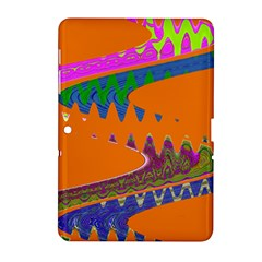 Colorful Wave Orange Abstract Samsung Galaxy Tab 2 (10 1 ) P5100 Hardshell Case  by BrightVibesDesign