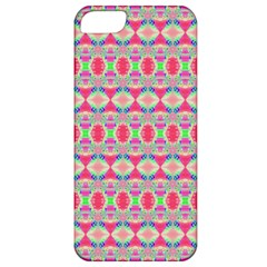 Pretty Pink Shapes Pattern Apple Iphone 5 Classic Hardshell Case by BrightVibesDesign