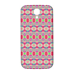Pretty Pink Shapes Pattern Samsung Galaxy S4 I9500/i9505  Hardshell Back Case by BrightVibesDesign